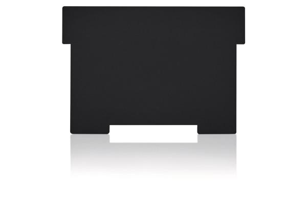 STYRO Schwenkplatte A6 30-631.90 PP recycling, schwarz 2 Stück