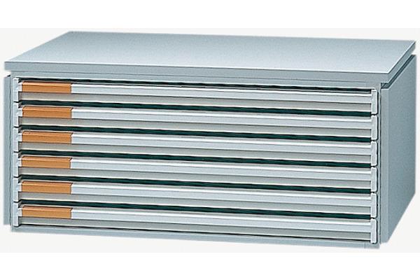 STYRO Schubladenbox 525x354x232mm 412206280 6 Fächer, styro-Stabil grau
