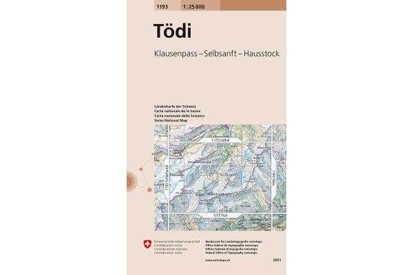 SWISSTOPO Landkarte 1193 Tödi 1:25000