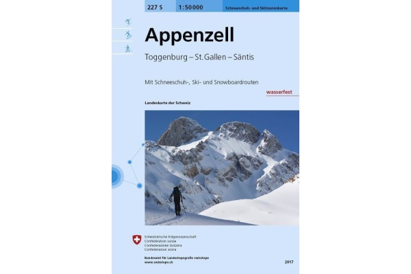 SWISSTOPO Landkarte 227Ski Appenzell 1:50´000