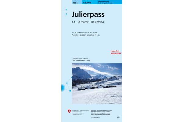 SWISSTOPO Landkarte 268SKI Julierpass 1:50000