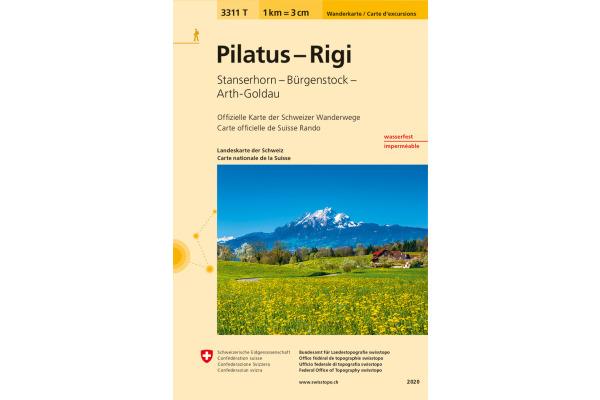 SWISSTOPO Wanderkarte 11x17,5cm 3311T Pilatus-Rigi vers.17 1:33´333