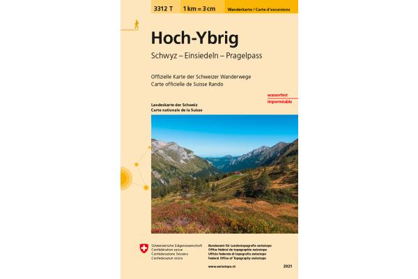 SWISSTOPO Wanderkarte 11x17,5cm 3312T Hoch-Ybrig 1:33´333