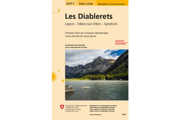 SWISSTOPO Wanderkarte 11x17,5cm 3317T Les Diablerets 1:33´333