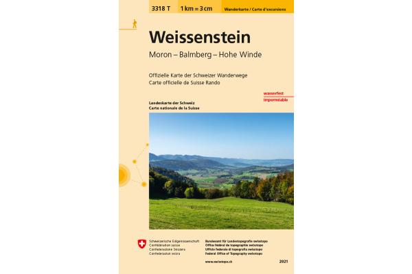 SWISSTOPO Wanderkarte 11x17,5cm 3318T Weissenstein 1:33´333