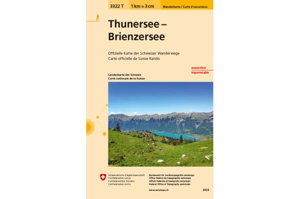 SWISSTOPO Wanderkarte Thuner-Brienzersee 3322T 1:33333...