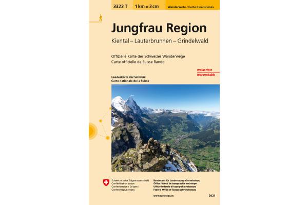 SWISSTOPO Wanderkarte Jungfrau Region 3323T 1:33333...