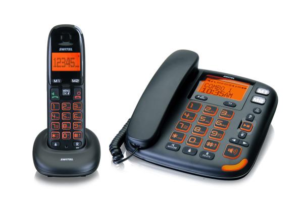 SWITEL Schnurgebundenes Telefon DCT50072 mit XL-Tasten/Display