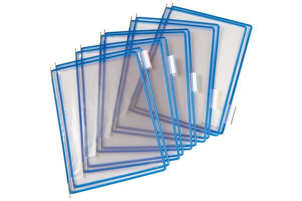 T-DISPLAY Drehtaschen Tarifold A4 114001 blau,5 index Tabs 50mm 10 Stück