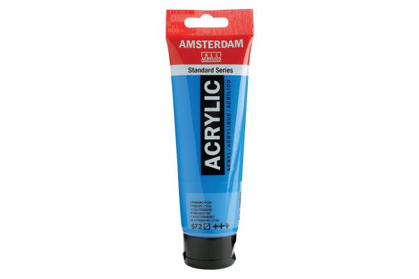 TALENS Acrylfarbe Amsterdam 120ml 17095722 prim.zyan