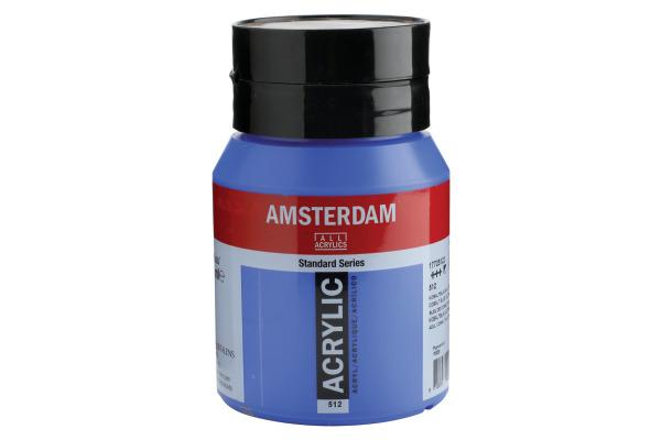 TALENS Acrylfarbe Amsterdam 500ml 17725122 Kobaltblau Ultramarin