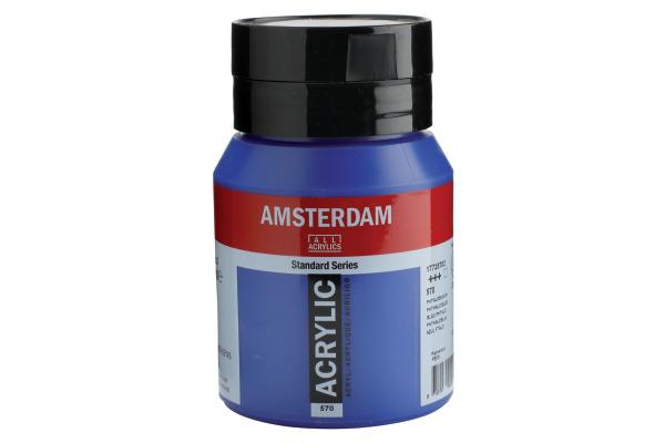 TALENS Acrylfarbe Amsterdam 500ml 17725702 Phthaloblau