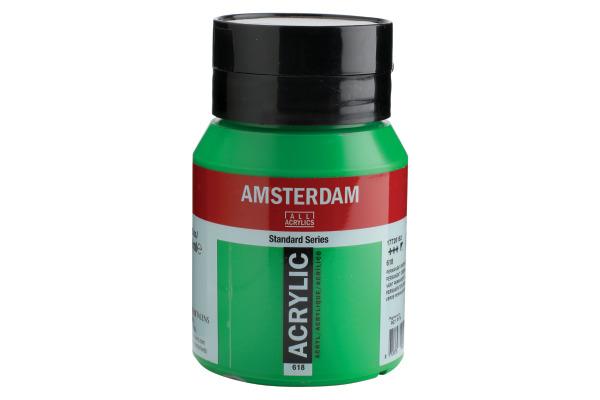 TALENS Acrylfarbe Amsterdam 500ml 17726182 Permanentgrün hell