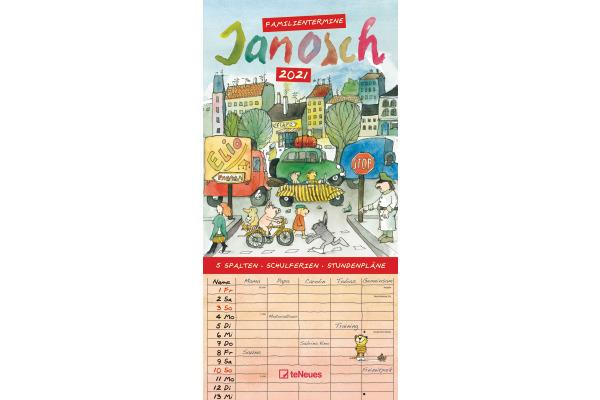TENEUES Janosch Familienplaner 725971630 22x45cm, 2021
