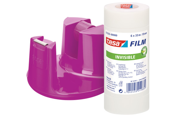 TESA Tischabroller EasyCut 19mmx33m 538350000 pink