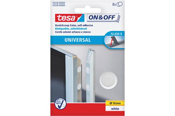 TESA Klettpunkte 16mm 552260000 weiss 8 Stück