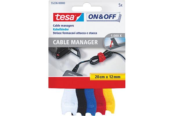TESA Kabelbinder on&off 12mmx20cm 552360000...