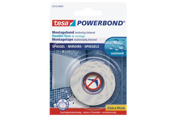 TESA Powerbond Spiegel 19mmx1.5m 557320000 Montageband,...