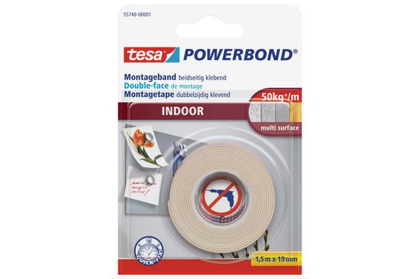 TESA Powerbond Indoor 19mmx1.5m 557400000 Montageband,...