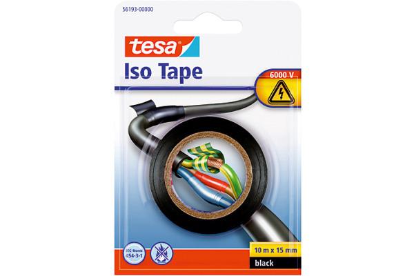 TESA Isolierband Iso Tape 15mmx10m 561930000 schwarz