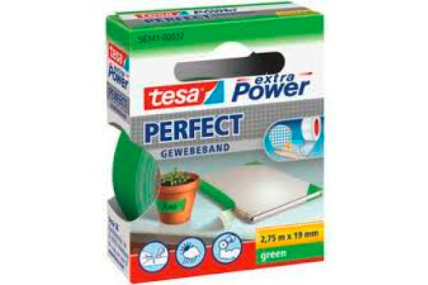 TESA Extra Power Perfect 2.75mx19mm 563410003 Gewebeband. grün