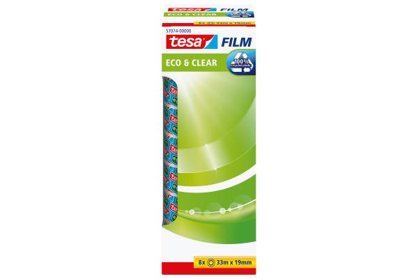 TESA Klebeband Eco & Clear 19mmx33m 570740000 8...
