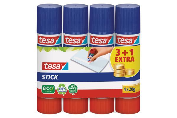 TESA Stick ecoLogo 4x20g 570880020 grün, 4...