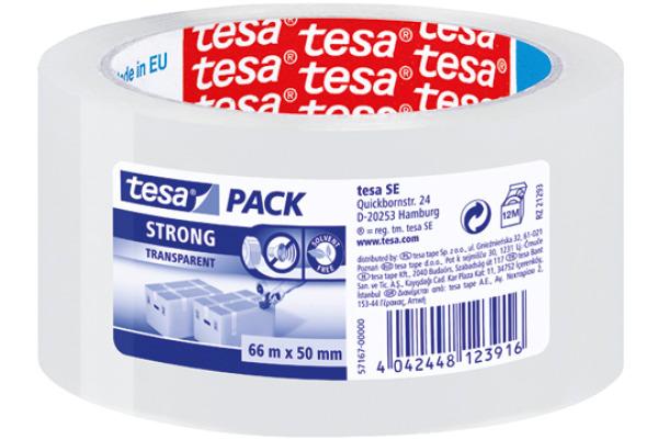 TESA Verpackungsband 50mmx66m 571670000 transparent