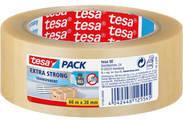 TESA Verpackungsband Extra 38mmx66m 571690000 transparent