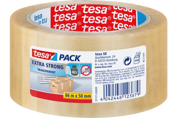 TESA Verpackungsband Extra 50mmx66m 571710000 transparent
