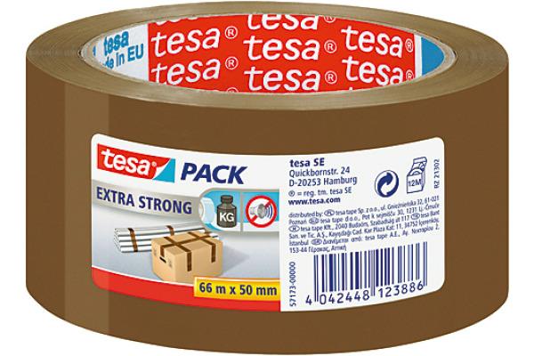 TESA Verpackungsband Extra 50mmx66m 571730000 braun