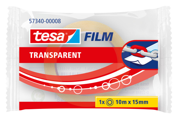 TESA Klebeband 15mmx10m 573400000 transparent