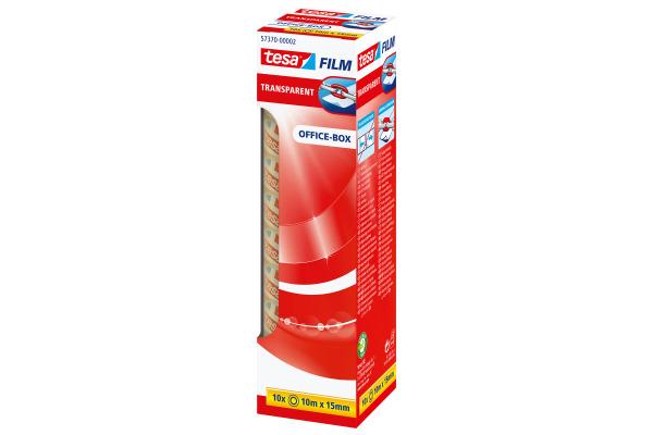 TESA Klebeband transparentBox 10mx15mm 573700000 10 Stück