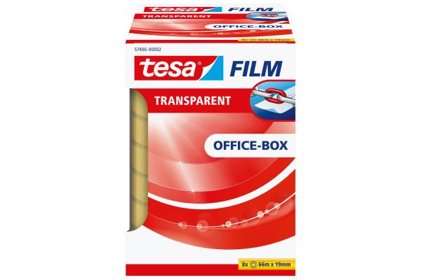 TESA Klebeband transparentBox 66mx19mm 574060000 8 Stück