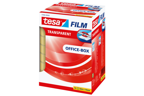 TESA Klebeband transparentBox 66mx19mm 574060000 8...
