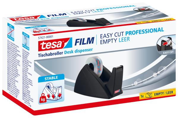 TESA Tischabroller EasyCut 33mx19mm 574210000 schwarz