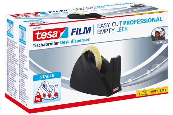 TESA Tischabroller EasyCut Profür 574220000 schwarz, für 25mm Rollenbreite