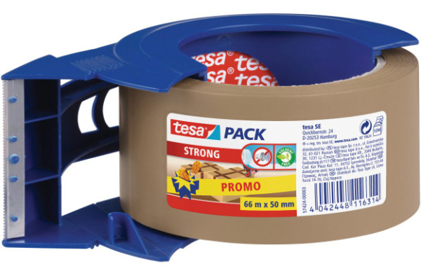 TESA Handabroller 50mmx66m 574240000 blau, mit Band