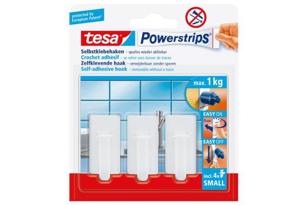TESA Powerstrips Haken S 575300001 weiss