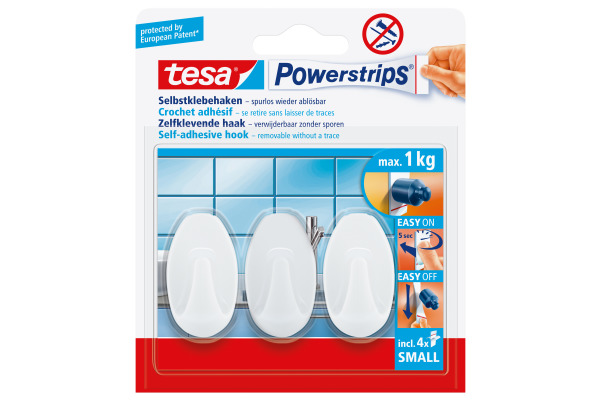 TESA Powerstrips Haken L 575330001 weiss