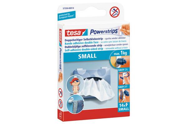 TESA Powerstrips Small 15x81mm 575500001 ablösbar, doppelseitig 14 Stk.