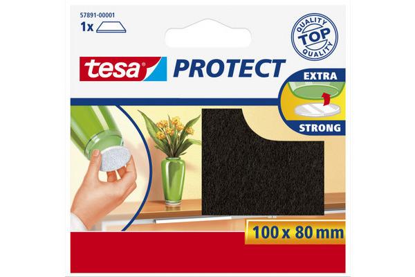TESA Protect Filzgleiter 100mmx80mm 578910000 braun, zuschneidbar, kratzfest
