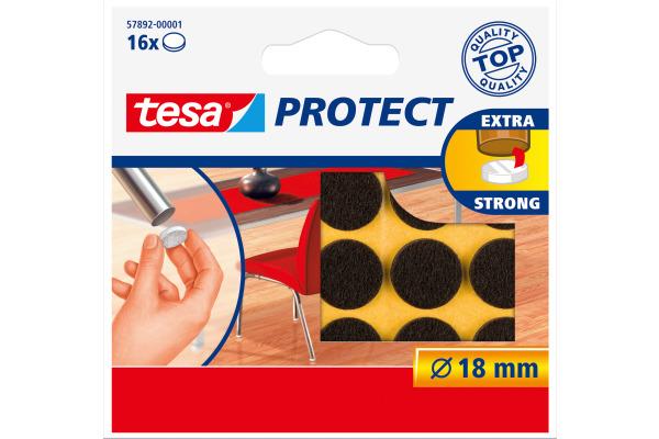TESA Filzgleiter Protect 18mm 578920000 braun, rund 16...