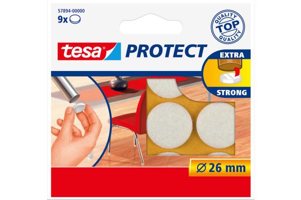 TESA Filzgleiter Protect 26mm 578940000 weiss, rund 9...