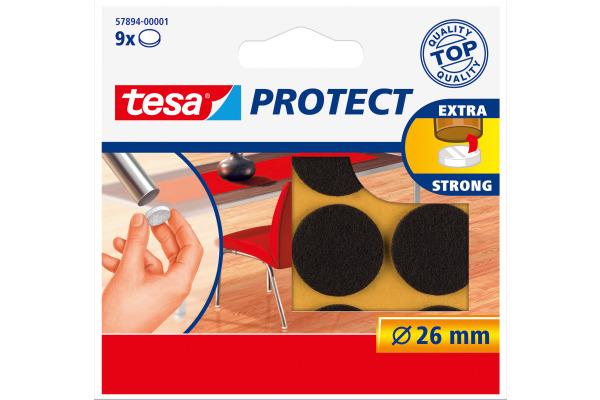 TESA Filzgleiter Protect 26mm 578940000 braun, rund 9...