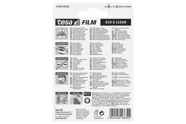 TESA Handabroller EasyCut Blister 579680000 grün, inklein 1 Rolle 19mmx33m