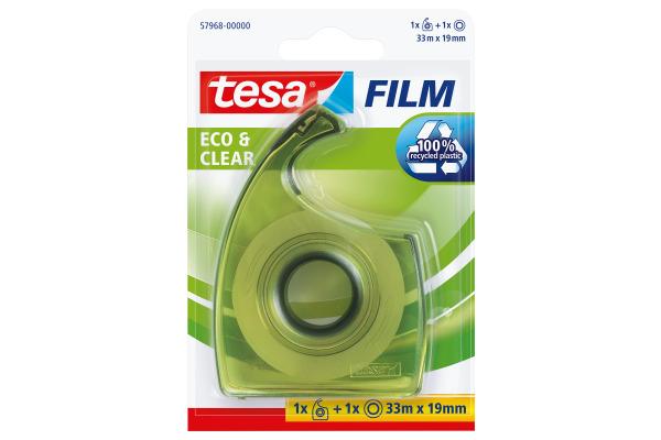 TESA Handabroller EasyCut Blister 579680000 grün, inkl. 1 Rolle 19mmx33m