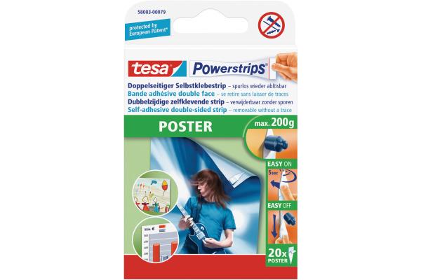 TESA Powerstrips Poster 20 Stück 580030007...