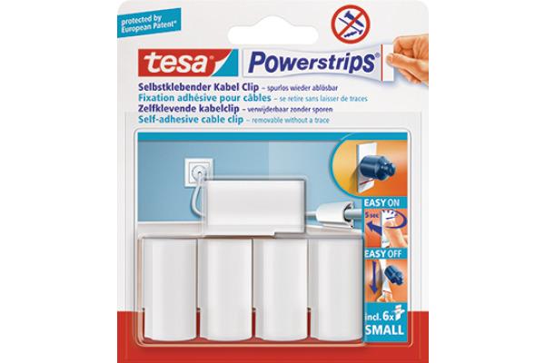 TESA Powerstrips Kabel-Clip 580350001 bis 8mm Kabelstärke 5 Stück