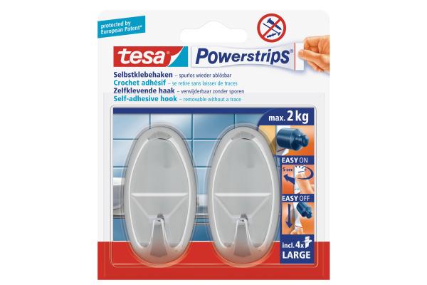 TESA Powerstrips Haken L 580500001 chrom